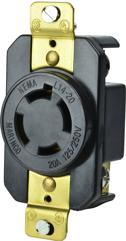 Quantity 4 Lot of 4 MARINCO NEMA L6-30 30A 250V Receptacles