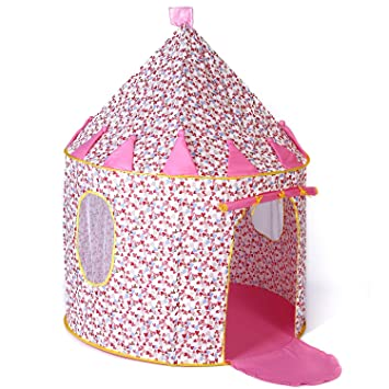 Cotton Castle Tent Princess Playhouse Indoor Outdoor Foldable Pop-up Birthday Christmas Gift  sc 1 st  Amazon.com : princess pop up tent - memphite.com