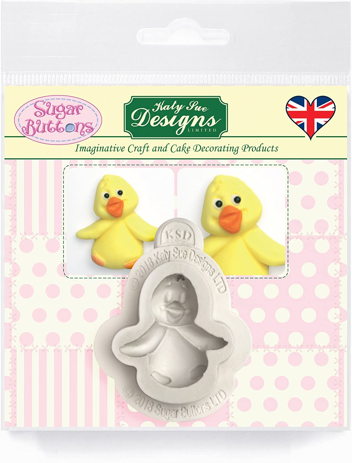 Baby Chick Silicone Mold for Cake Decorating, Crafts, Cupcakes, Sugarcraft, Candies, Card Making and Clay, Food Safe Approved, Made in The UK, Sugar Buttons by Kathryn Sturrock