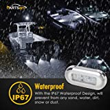 """Partsam 2x White 3"""" LED Oblong Courtesy Light Yacht"""