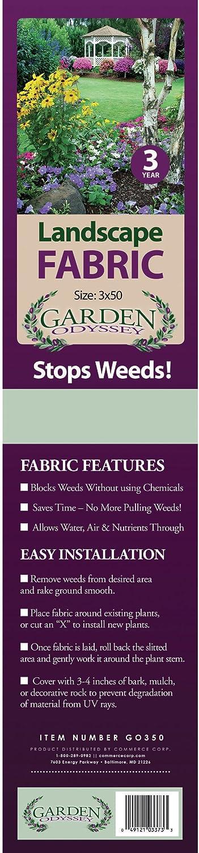 Garden Odyssey GO350 Landscape Fabric Roll 50-Feet