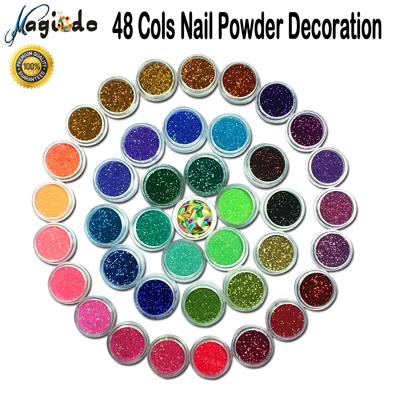 well-wreapped Magicdo 45 colores Polvo brillo arte clavo, Extra fina ...