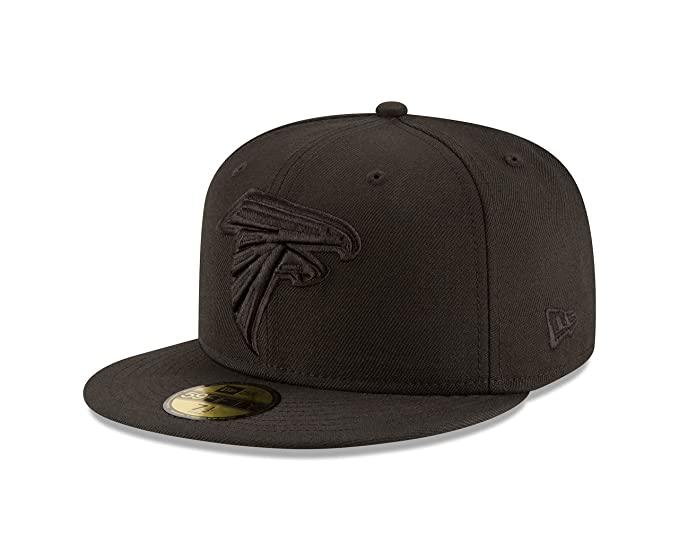 newest 7f285 b2365 Amazon.com   New Era Adult Men NFL Black 59FIFTY Fitted Cap   Clothing