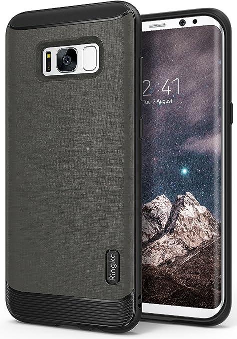 12 opinioni per Custodia Samsung Galaxy S8 Plus, Ringke [Serie Flex S] Rivestito in Pelle Ruvida