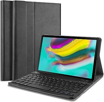 ProCase Étui pour Galaxy Tab S5e 2019 T720 T725 Coque fine légère avec clavier magnétique amovible sans fil pour Galaxy Tab S5e 10,5