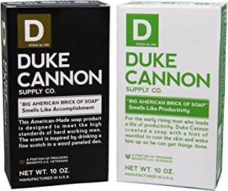 product image for Duke Cannon Supply Co. - Big American Brick of Soap Variety Gift Set (2 Pack of 10 oz) Superior Grade Bar Soap Designed for Hardworking Men - Smells Like Productivity & Accomplishment Scents