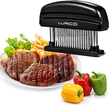 ◆◆ 48 ULTRAL SHARP BLADES: el ablandador de carne penetra en carnes de hasta 1 pulgada permitiendo q