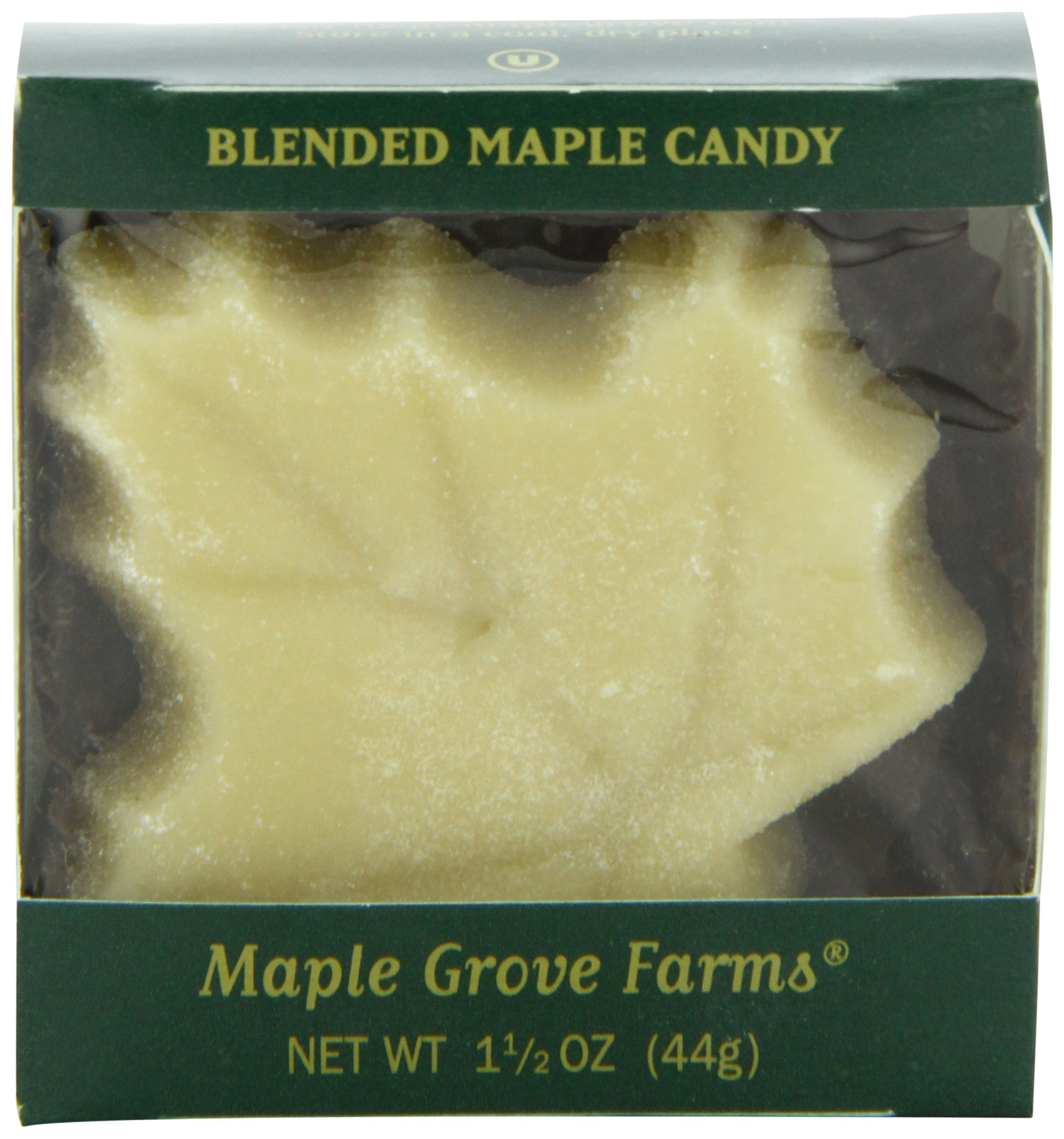 Maple Grove Farms Blended Maple Candy, Large Leaf Shape, 1.5 Ounce (Pack of 12)