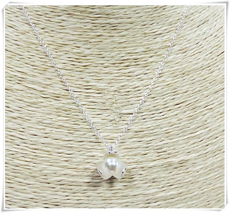Plata de Ley Collar de perlas