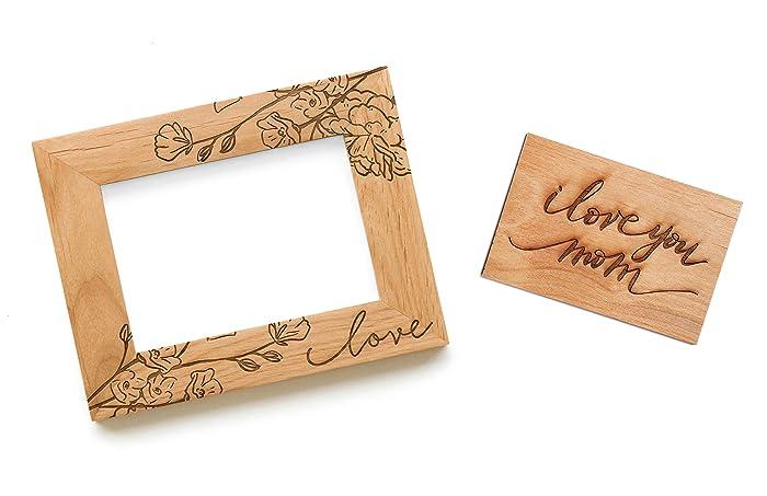 Amazon.com: Mother\'s Day Bundle - Floral Love Photo Frame + I Love ...