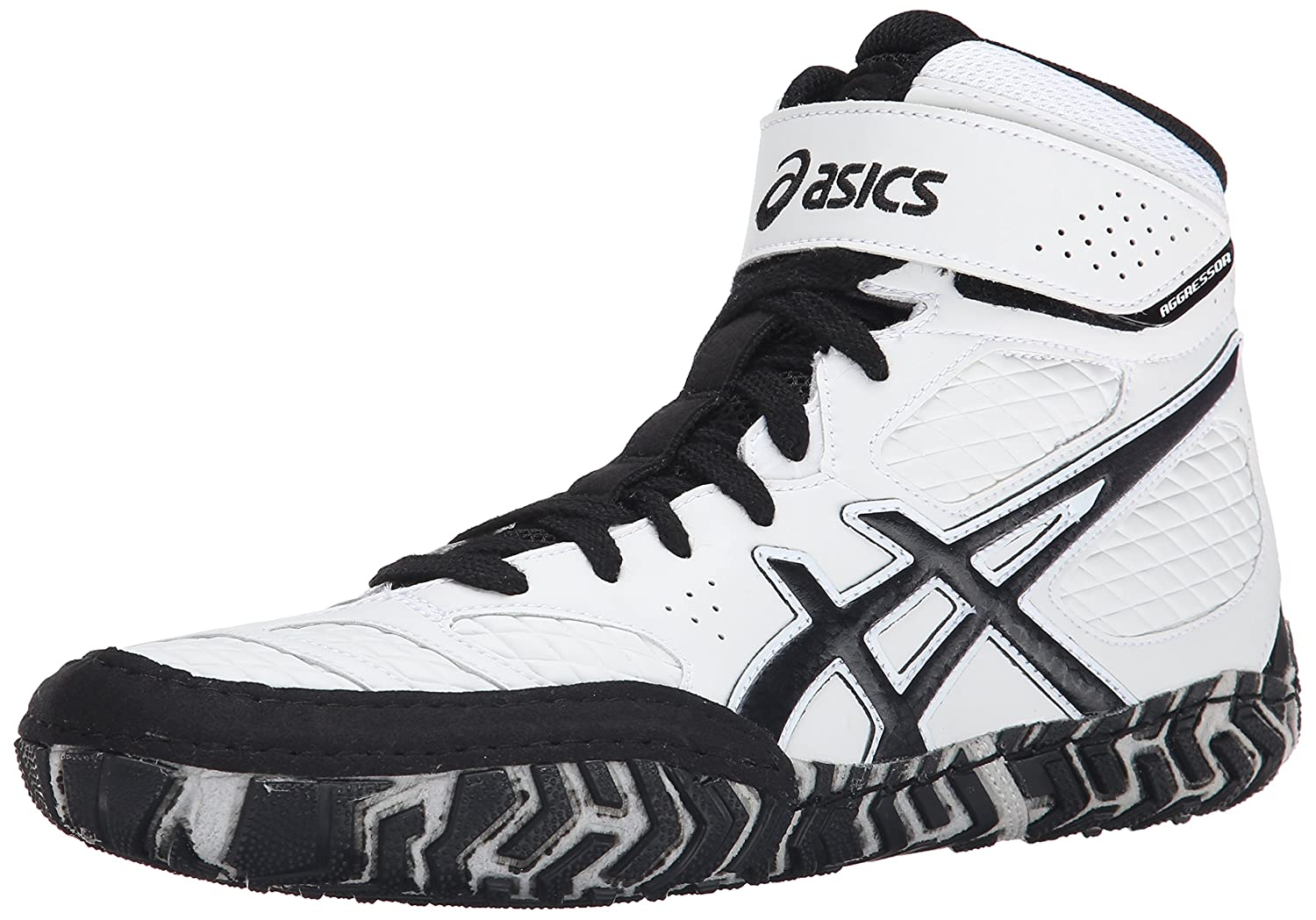 ASICS Men\'s Aggressor 2 Wrestling Shoe White/Black