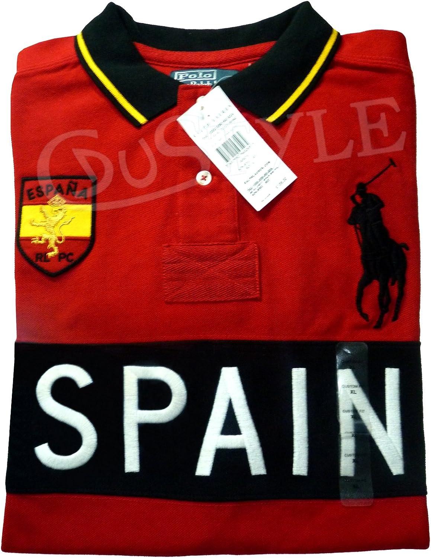 Ralph Lauren Polo Big Pony Spain España M Rojo: Amazon.es: Ropa y ...