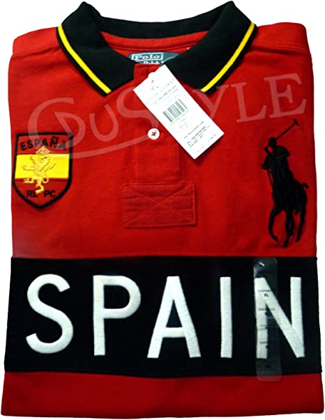 Ralph Lauren Polo Big Pony Spain España M Rojo: Amazon.es: Ropa y accesorios