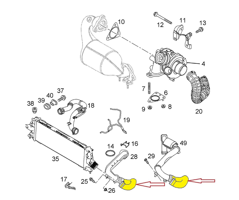 proautoeu 104089 Boost diseño de Intercooler Tubo Turbo manguera 8200526443: Amazon.es: Coche y moto