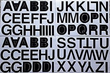 B2see Buchstaben Aufkleber Abc Alphabet Sticker Aufkleber Klebe Buchstaben Groß Schwarz Sticker Abc Zum Auf Kleben 4 Boegen Format 190 Mm X 270 Mm Je