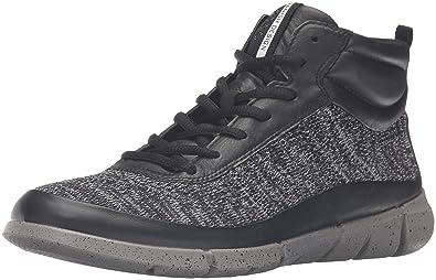 5a0256e41d78 ECCO Women s Intrinsic 1 High-W Fashion Sneaker Black Concrete 42 EU 11
