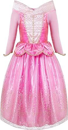 FUNNA Sleeping Princess Costume for Beauty Girls Dress up