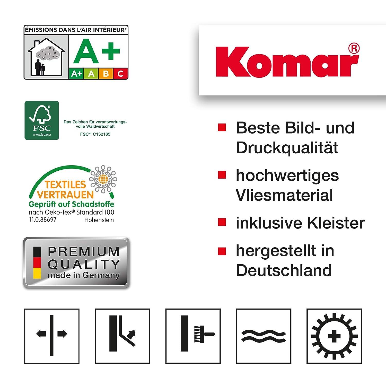Blu//Rosa//Bianco Komar 8-213 Carta da parati colore