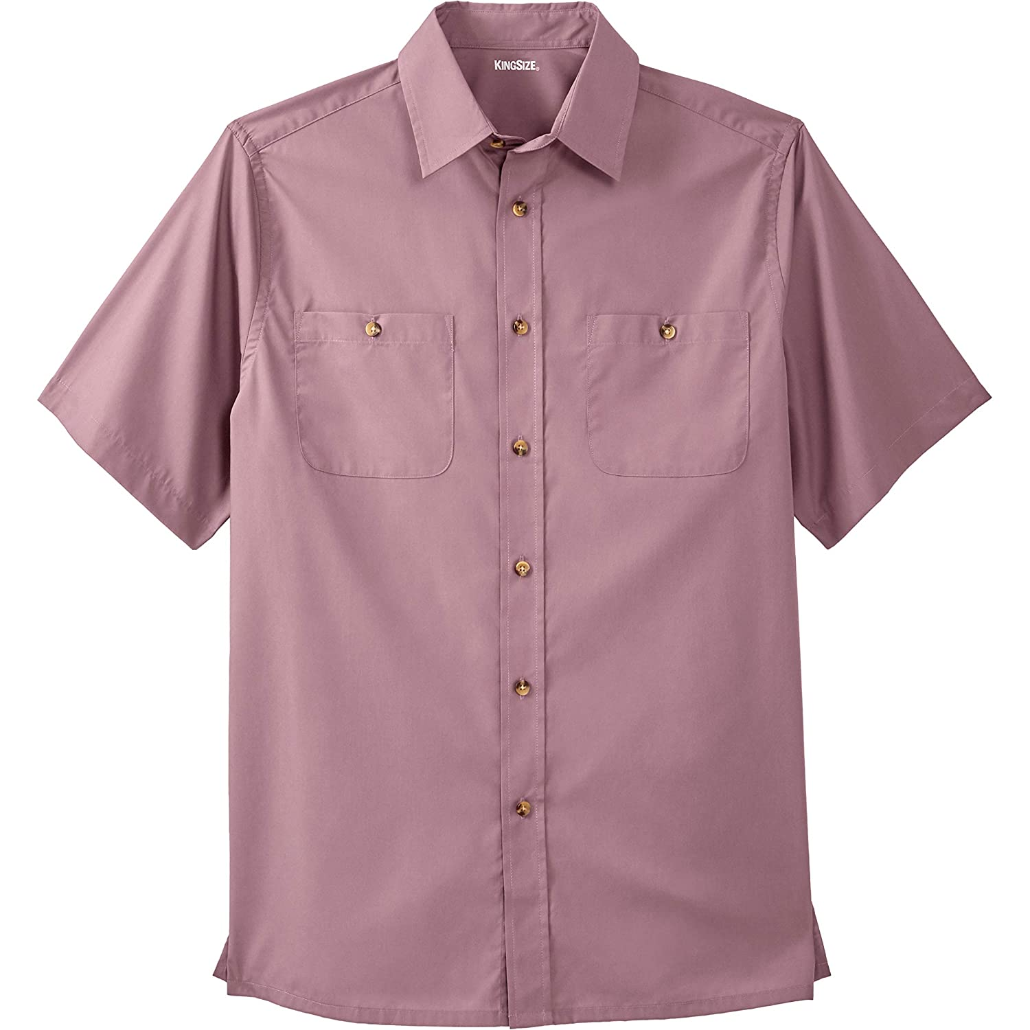 KingSize Mens Big /& Tall Short Sleeve Solid Sport Shirt
