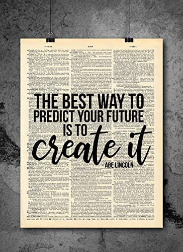 Great things never come Dictionary Art Print Page Motivational Inspirational