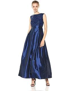 Chetta B Womens Sequin Satin Gown