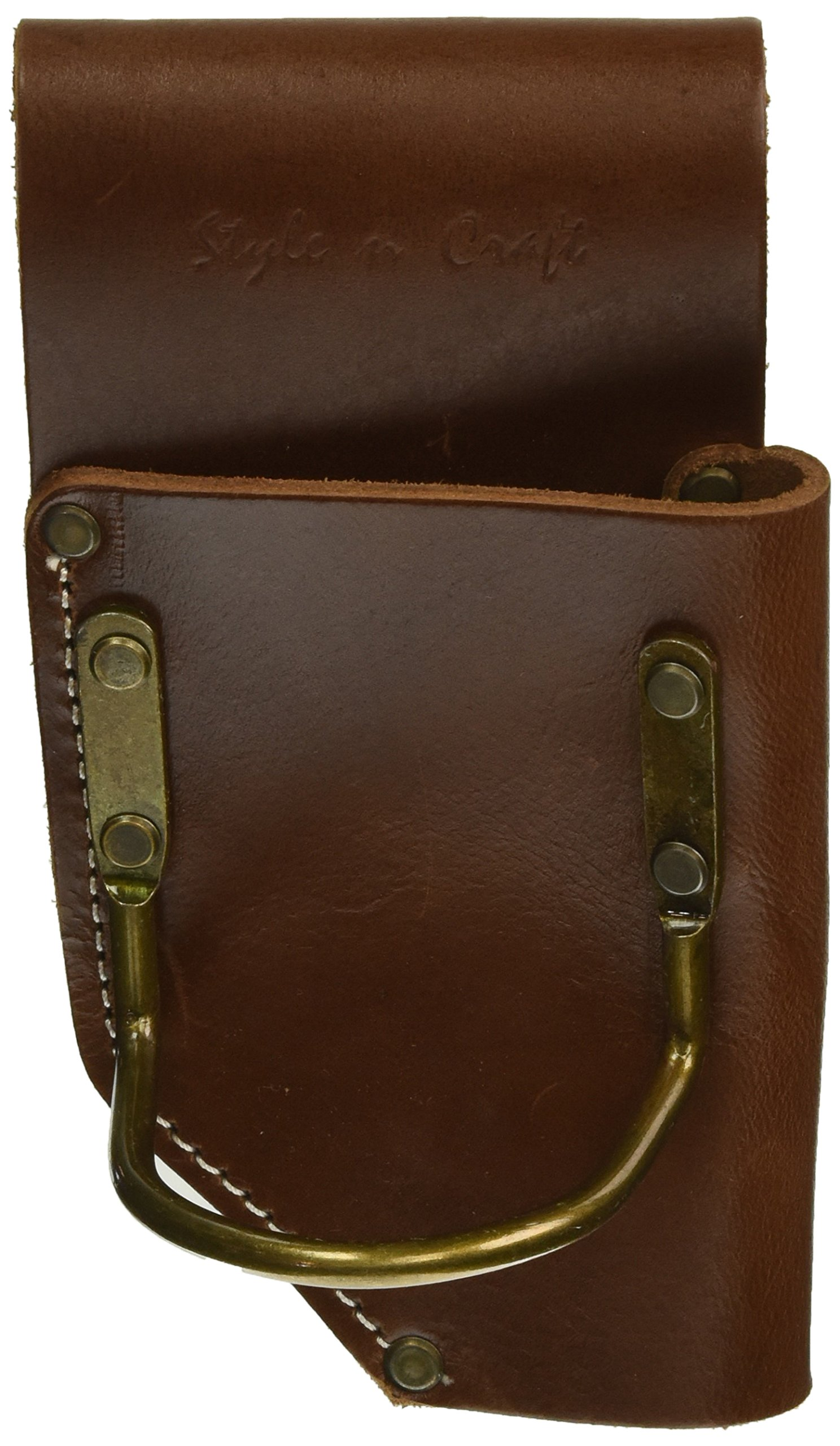 Style n Craft 98450 Pliers and Hammer Holder in Heavy Top Grain Leather, Dark Tan