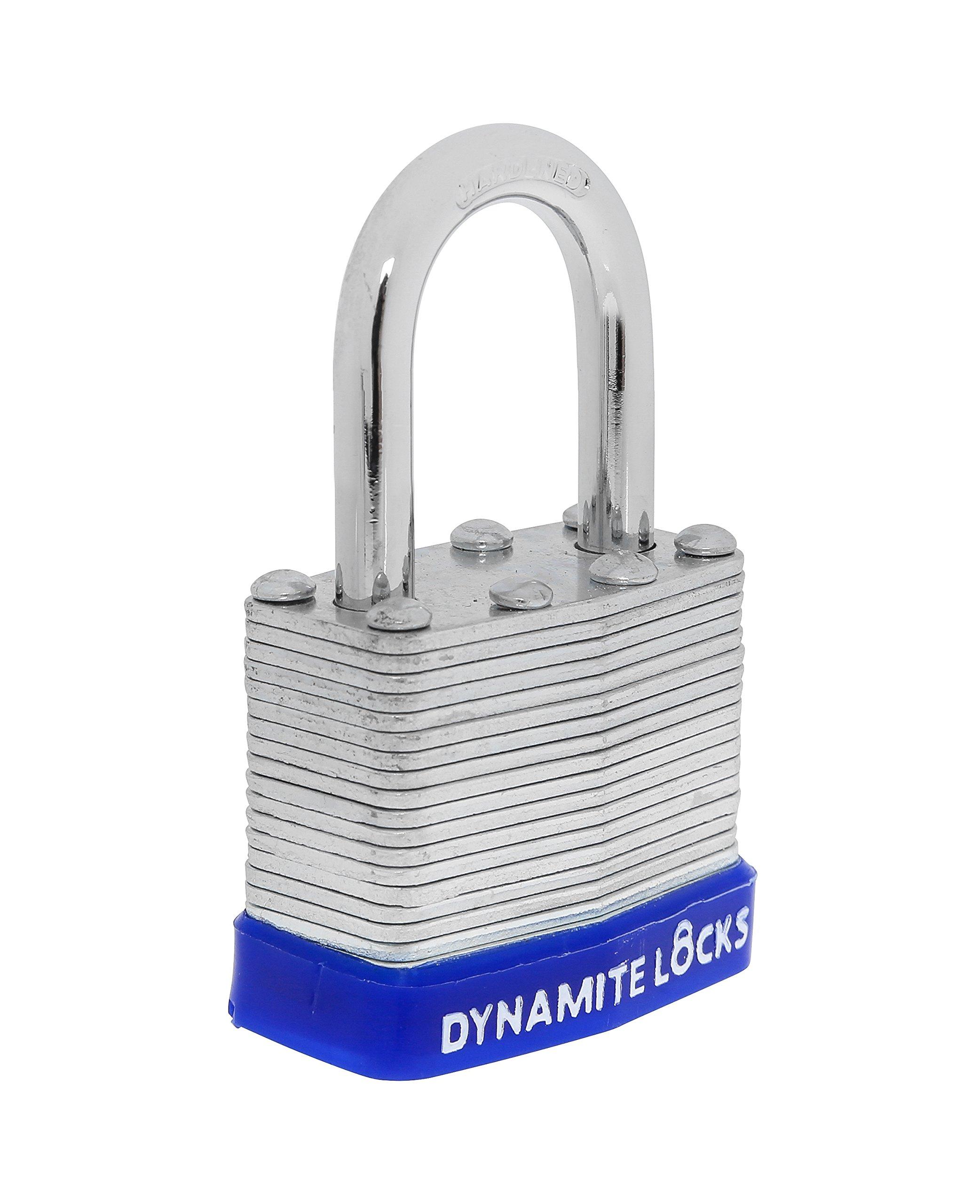72 PC padlocks keyed alike 72-pack LAMINATED PADLOCK 40MM KEY ALIKE SHORT SHACKLE COMMERCIAL GRADE SECURITY PAD LOCKS PADLOCK KEYED THE SAME A LIKE by Dynamite Locks (Image #5)
