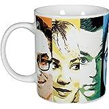 Big Bang Theory 'The 0122072Tazza di caffè Faces, 320ml, Porcellana, Bianco