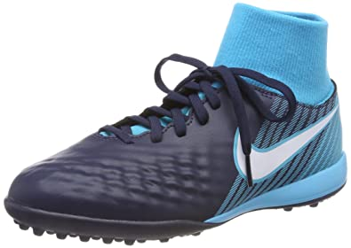 Nike JR Magistax Onda II DF TF, Chaussures de Football Mixte Enfant, Bleu, 35.5 EU