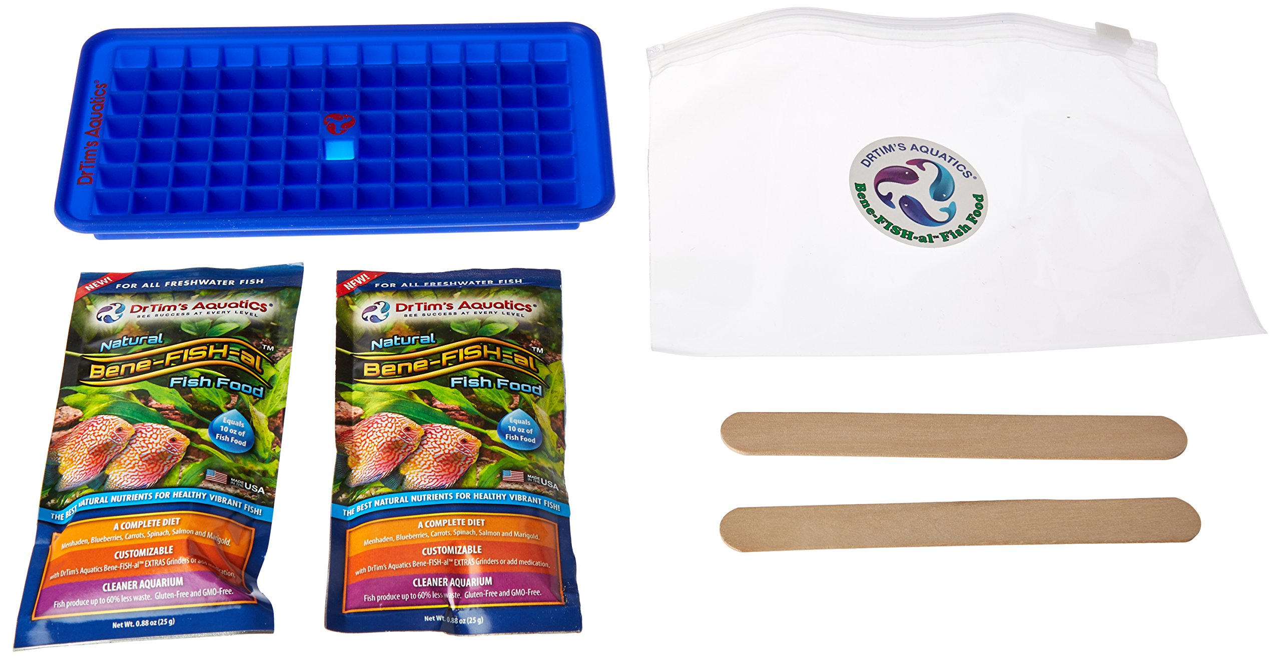 Dr. Tim's Aquatics Bene-FISH-al  Freshwater Fish Food (Starter Kit), Protein + Vitamins + Probiotics + Grain & Gluten-Free by DrTim's Aquatics