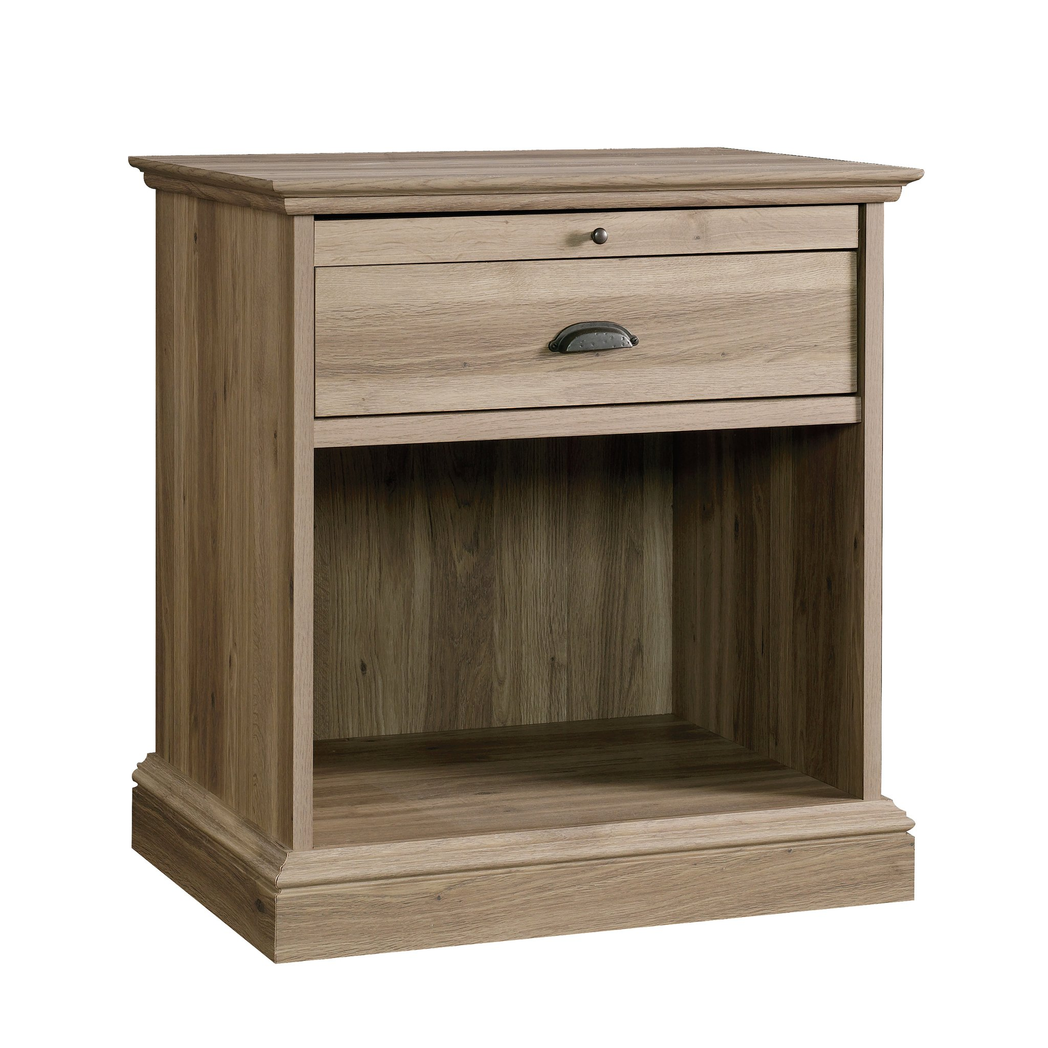 Sauder 418705 Barrister Lane Night Stand, L: 25.98'' x W: 19.45'' x H: 28.03'', Salt Oak finish