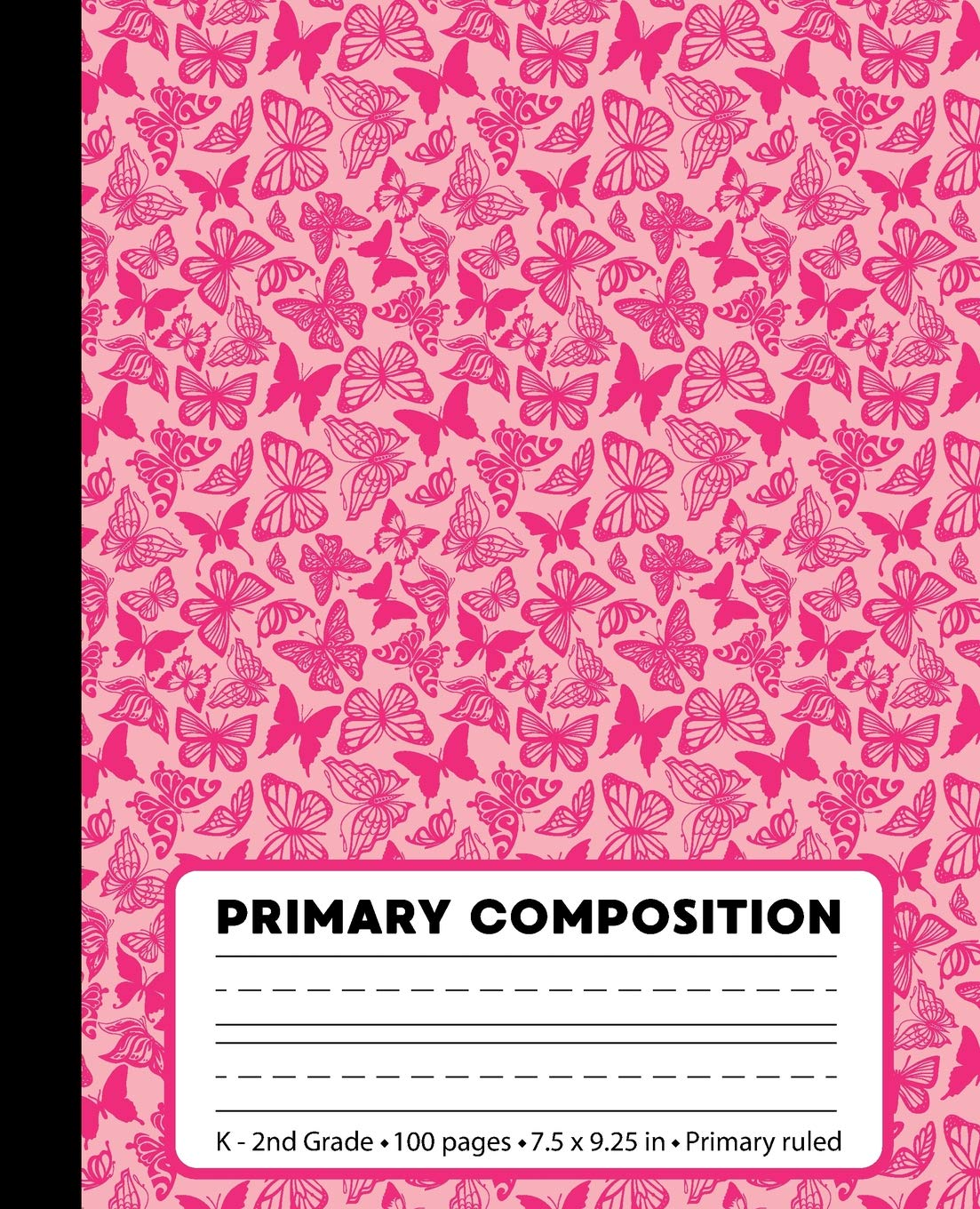 Read Online Primary Composition: Butterfly Pink Black Marble Composition Book for Girls K-2. Beautiful notebook handwriting paper. Primary ruled - middle dotted ... 7.5 x 9.25 inches (Primary Composition Books) PDF