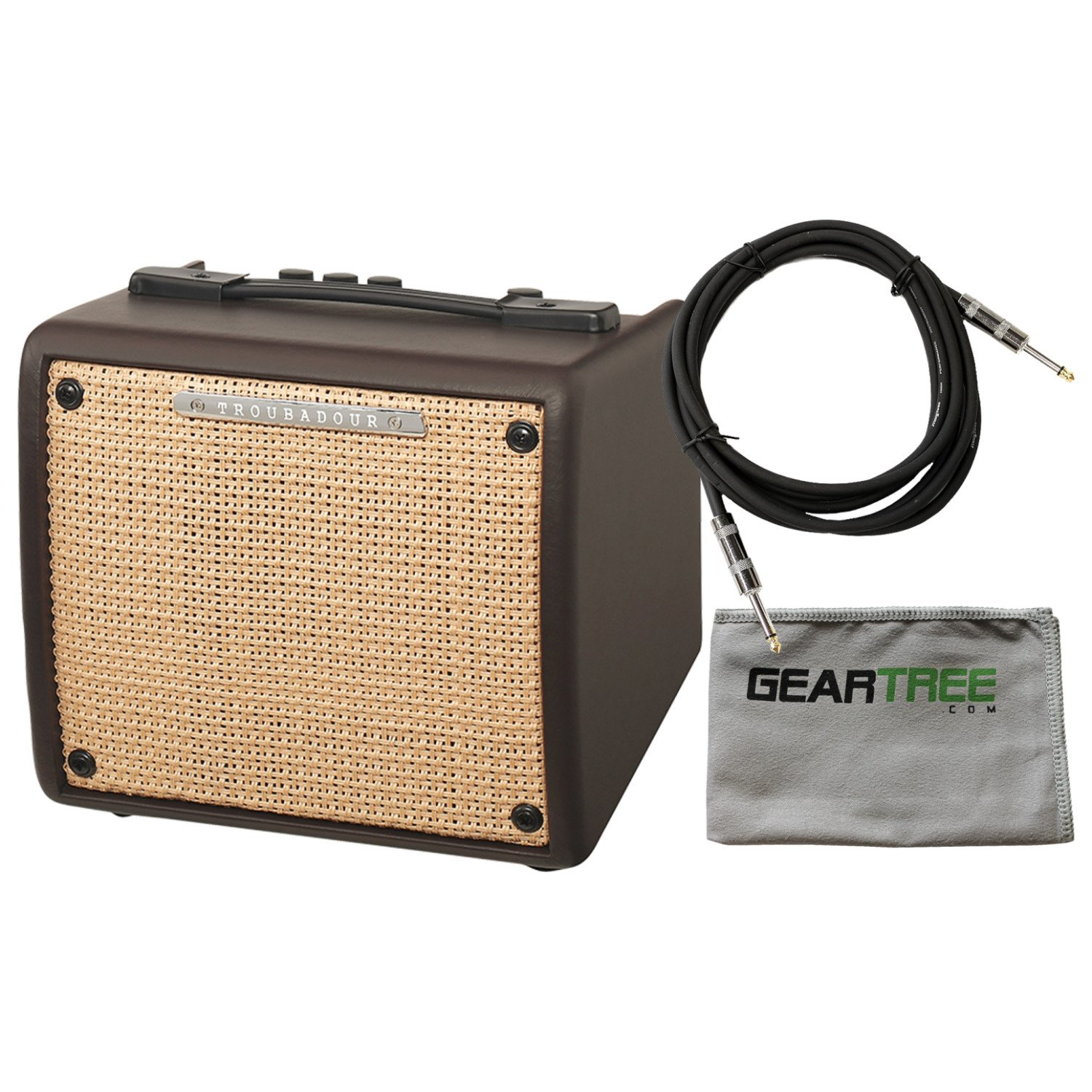 Ibanez T15II Troubadour II 15 Watt Acoustic Guitar Combo Amplifier Brown w/ Cabl