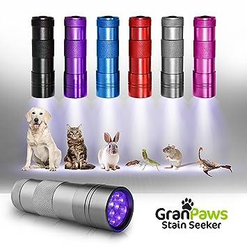 Detector de orina para mascotas con linterna UV negra. Buscador de manchas inalámbrico con LED ultra ...