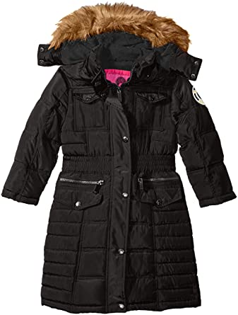 Amazon.com: Weatherproof Little Girls' Toddler Long Bubble Coat ...