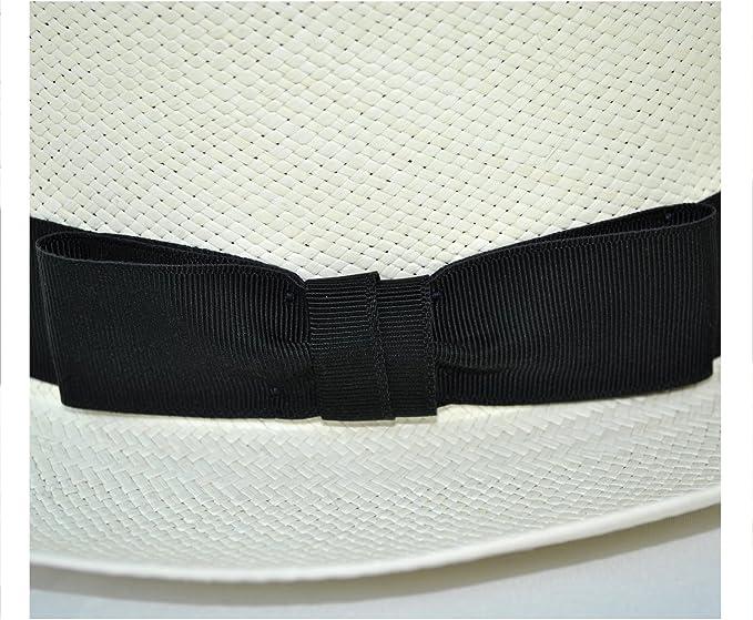 Olney Mens Folding Brisa Panama Straw Hat with Black Ribbon Band and Bow and Travel Tube SM68