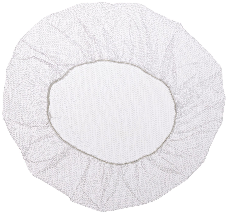 White Soft Heavyweight Nylon Honeycomb Hairnet, 18'' Size (1000 Pieces)