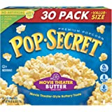 Pop Secret Popcorn, Movie Theater Butter, 3 oz Microwave Bags, 30Count