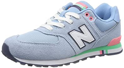 best sneakers d47f5 3b63e Amazon.com | New Balance 574 Suede/Mesh Blue | Shoes