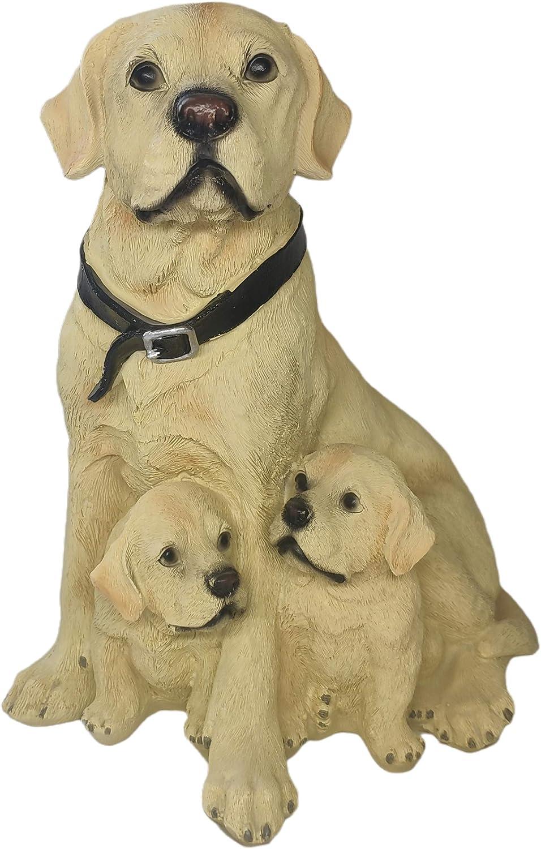 GAOBEI Labrador Retriever Sculpture Puppy Dog Statue Collection Figurine Resin Outdoor Statues for Home Decor (Labrador)