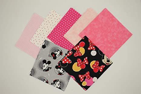 30 5 Mickey//Minnie Mouse Quilting Squares Charm Pack #2-15 Different Prints 2 of Each