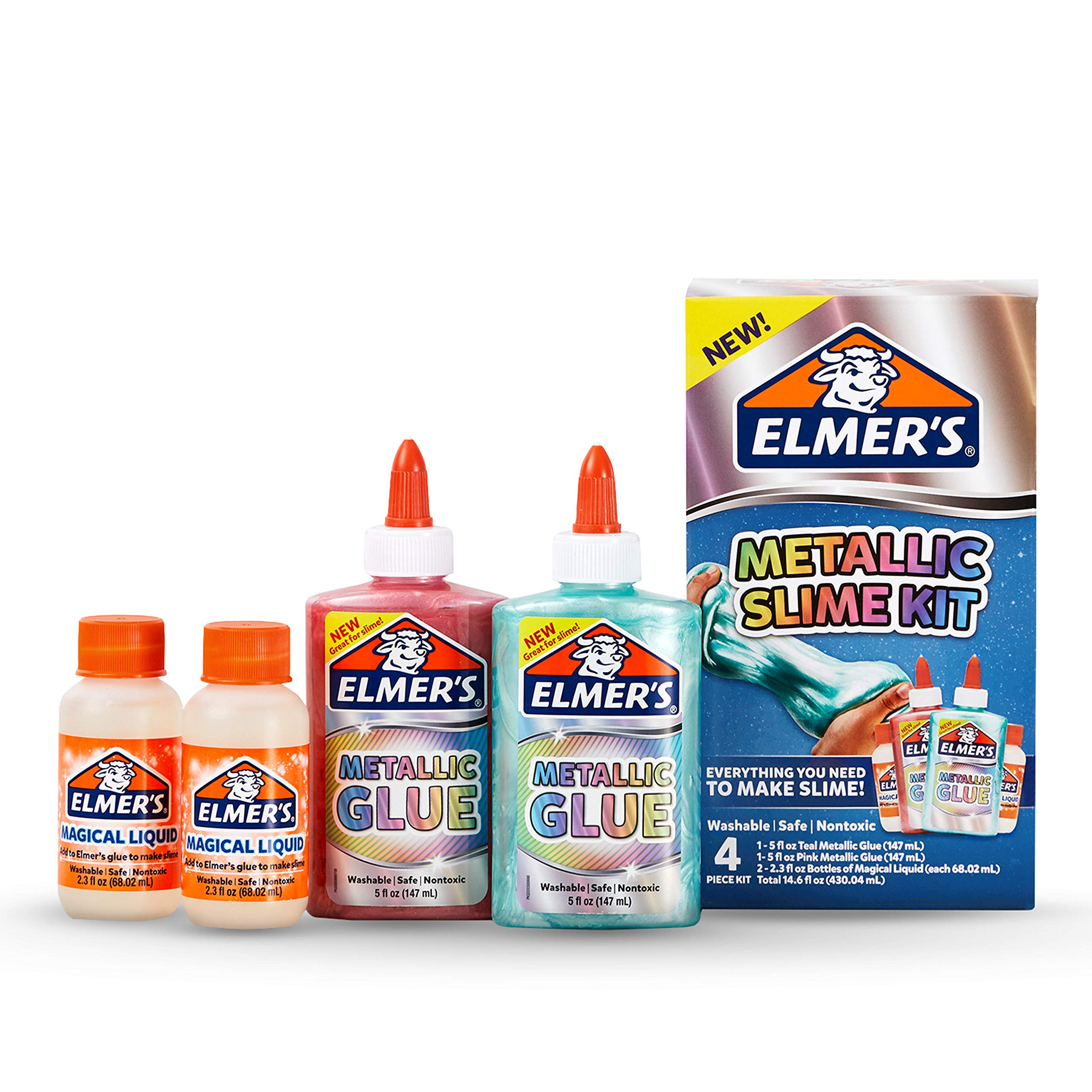 Elmer'S Slime Kit | Slime Supplies Include Elmer'S Metallic Glue, Elmer'S Magical Liquid Slime Activator, 4 Piece Kit by Elmer's