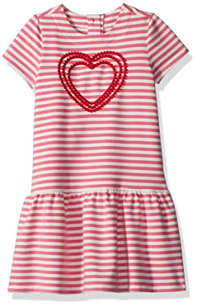 ae58d1a69 Gymboree Toddler Girls  Pink Striped French Terry Dress  Amazon.in ...