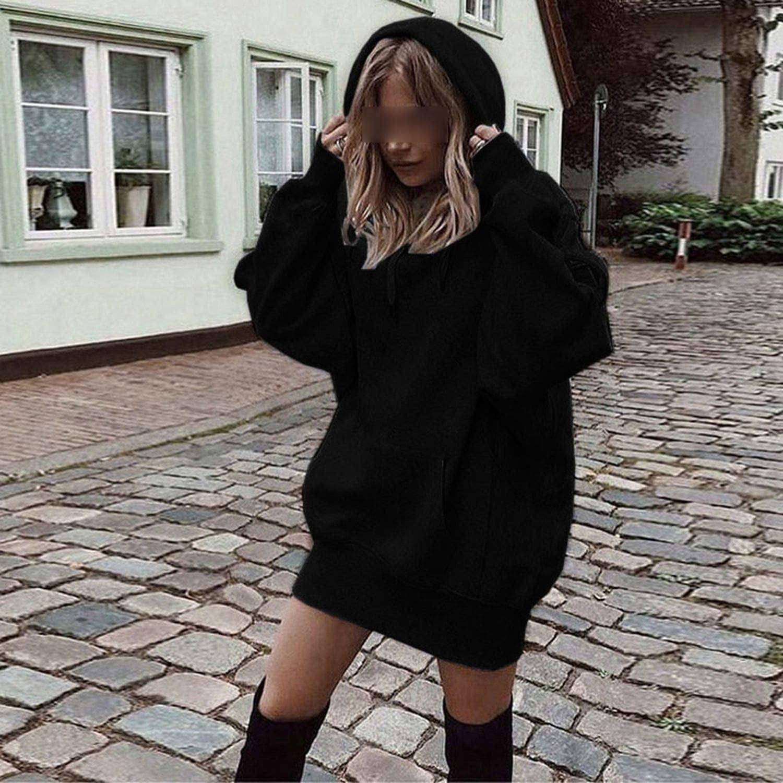 Sheep 2019 Fashion Womens Sweatshirt Solid Color Clothes Hoodies Pullover Coat Hoody Sweatshirt Loose Hoodies