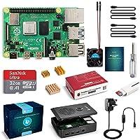 LABISTS Raspberry Pi 4 Complete Starter Kit with Pi 4 Model B 4GB RAM Board, 32GB Micro SD Card Preloaded Noobs, 5V 3A…