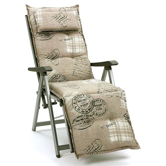 Amazon.de: Luxus Auflagen Für Hochlehner 9 Cm Dick Mit Kopfkissen Miami  40260 620 (ohne Stuhl)