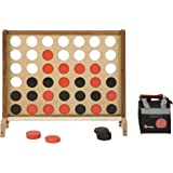 Giant Four In A Row Game - This Giant Garden Game features a beautiful 80cm x 70cm English ash face and mango wood legs and bar guard. Comes with 42 plastic coins and a nylon storage bag for the coins. Connect 4 in a row to win.