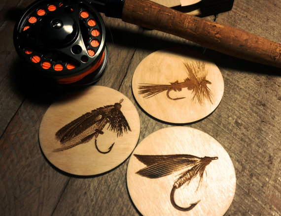 Fly Fishing Beverage Coasters (6)