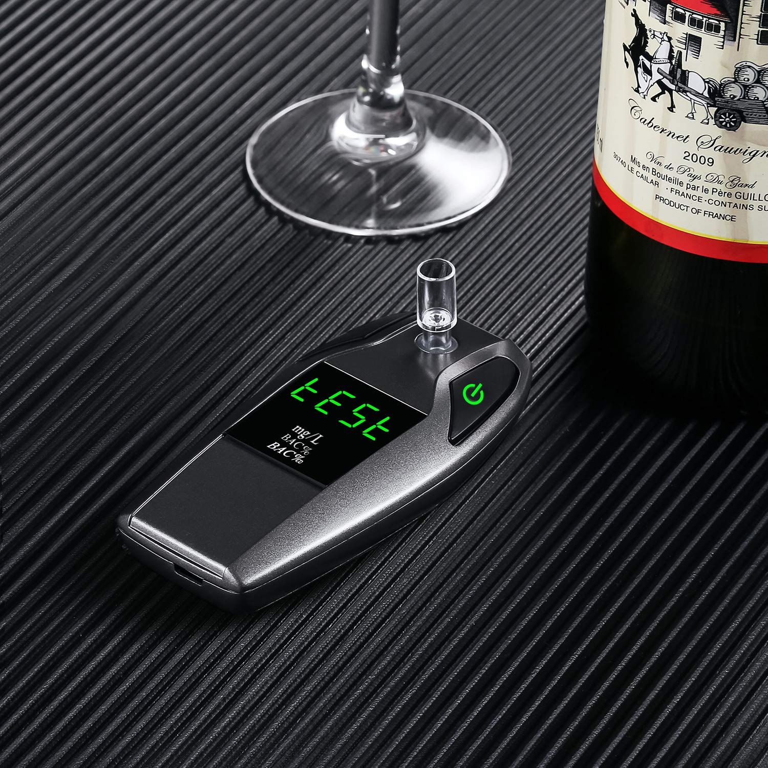 JASTEK Breathalyzer, [2019 New Version] Fuel Cell Sensor Digital Breath Alcohol Tester and Professional Grade Blood Alcohol Content Detector Made of Zinc Alloy by JASTEK (Image #3)