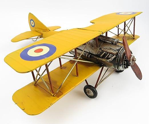 Blechflugzeug Modellflugzeug Blechmodell Flugzeug Eisen Antik-Stil